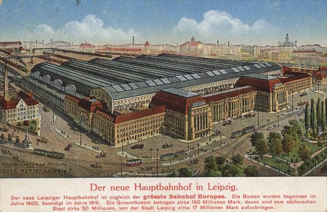 Eskiden Leipzig Tren İstasyonu