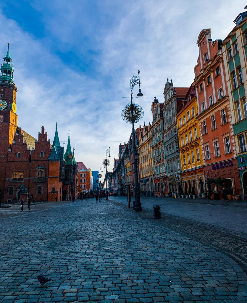 Eski Meydan'dan caddeye bakış, Wroclaw