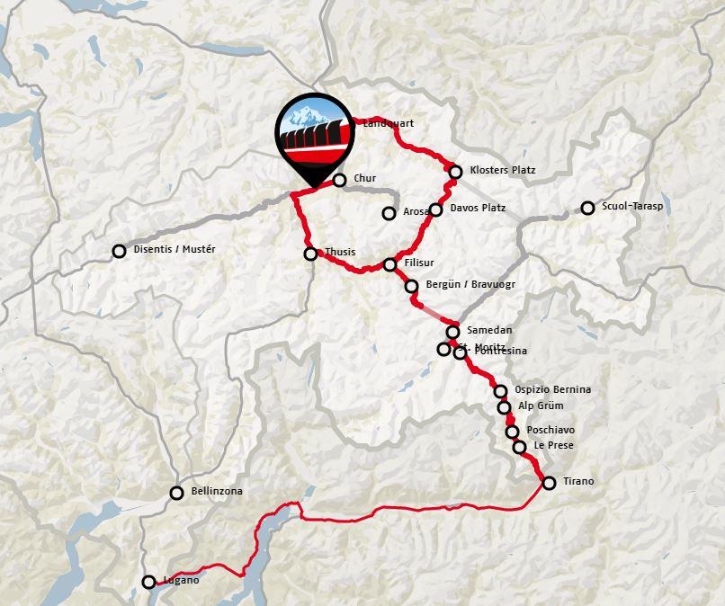 Bernina Express Rota Haritası