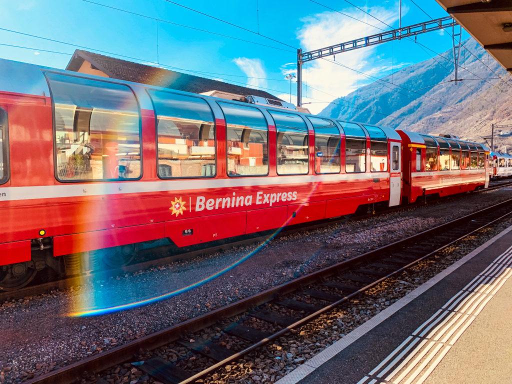 Bernina Express'in panoramik camları