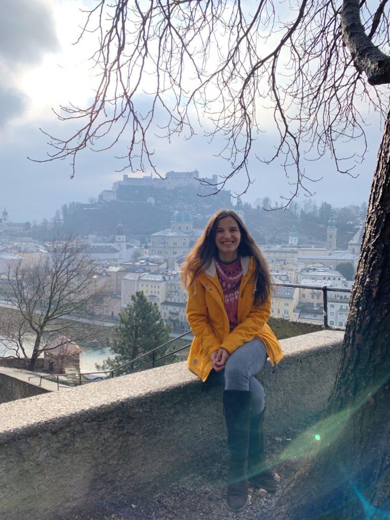 Hohensalzburg Kalesi'ne karşıdan bakış, Salzburg