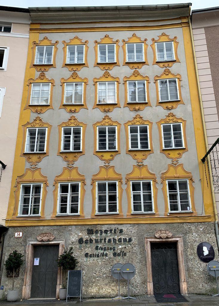 Mozart'ın doğduğu evin arkadan görünümü, Salzburg
